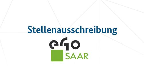 Das Bild zeigt das Logo von eGo Saar.