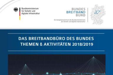 Cover Bericht zu den Themen und Aktivitäten des Gigabitbüros des Bundes 2018/19